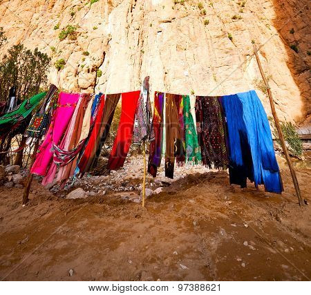 In Todra Gorge Morocco Africa And Scarf Shop