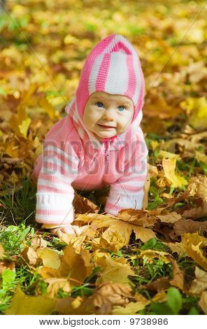 Girl Against Autumn Nature
