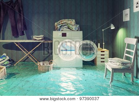 housework  dreams. 3d Creative concept.