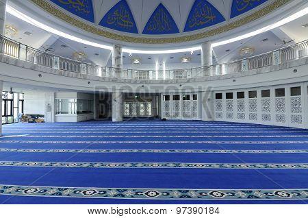 Interior of Puncak Alam Mosque at Selangor, Malaysia