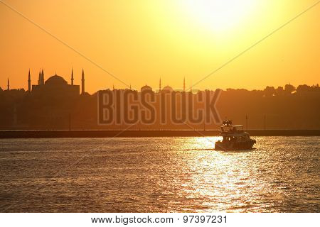 Bosporus At Sunset