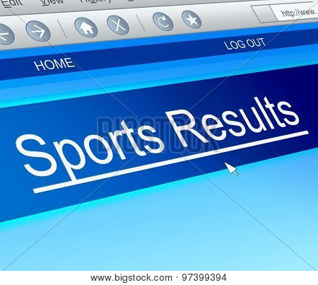 Sports Results Concept.