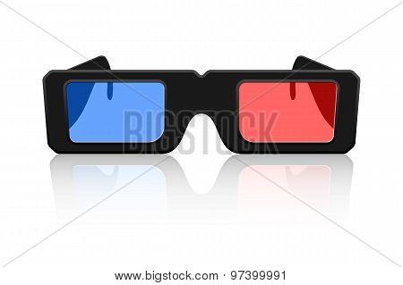 Vector 3D Glasses Icon