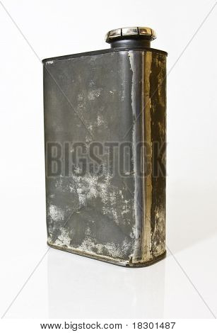 Old Metal Container with Lid