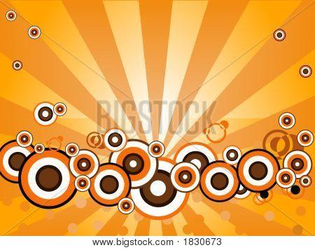 Orange Blazing Circles
