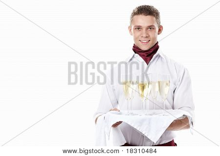 The Young Waiter With A Tray