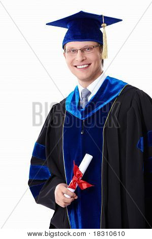 A Student With A Diploma
