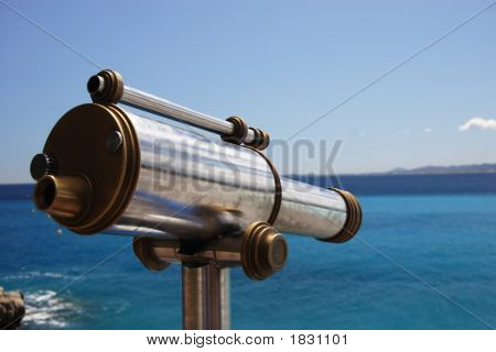 Old Telescope Overlooking The Med
