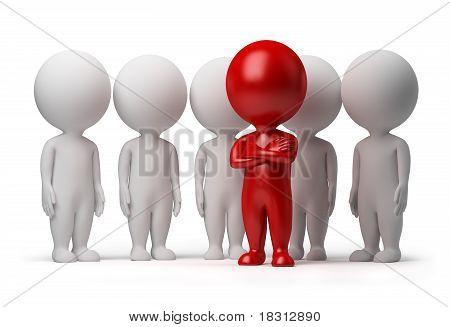 Gente pequeña 3D - líder de un equipo