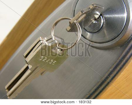 Llave y cerradura de puerta