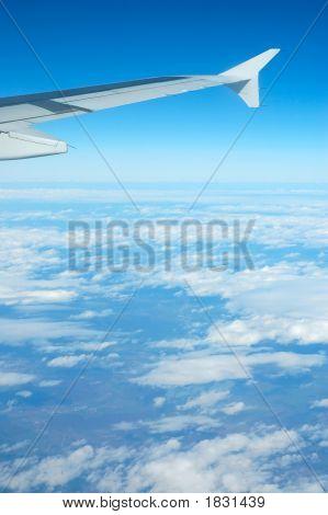 Airplane View - Blue Sky