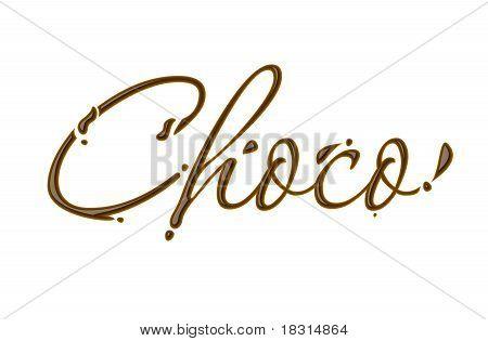 Chocolate Choco Text
