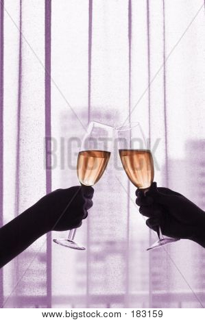 Champagne/red Wine Toast