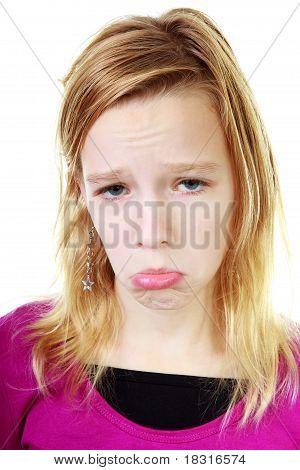 Girl Makes Sad Face