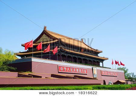 Tiananmen Gate ( Gate Of Heavenly Peace), Beijing