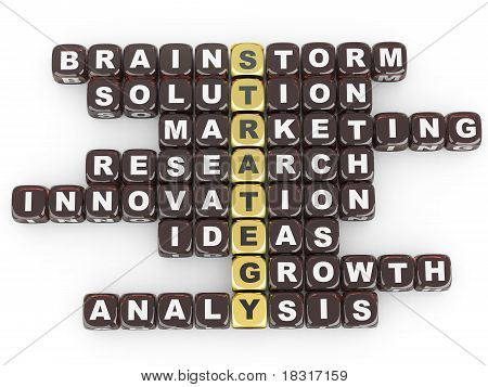 Conceptual Image Of Strategy.