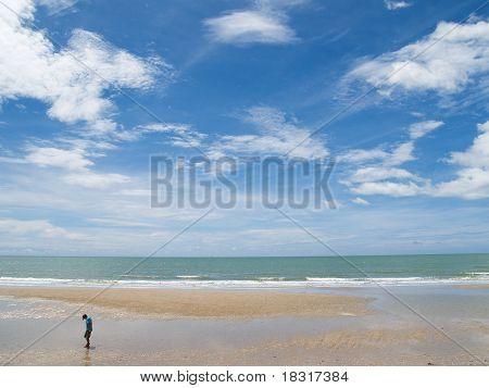 Jao Samran Beach, Phetburi Province in Thailand