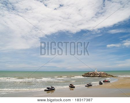 Puktien Beach, Phetburi Province  in Thailand