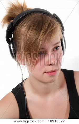 Portrait Of A Female Dj Chick