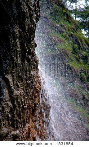 Nice Splashy Waterfall In Slovak Paradise
