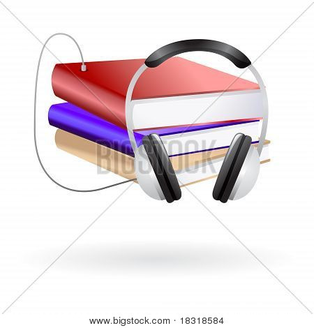 audio book vector