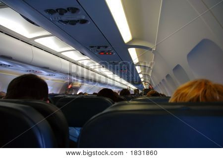 Passengers On Board Of The Airplane