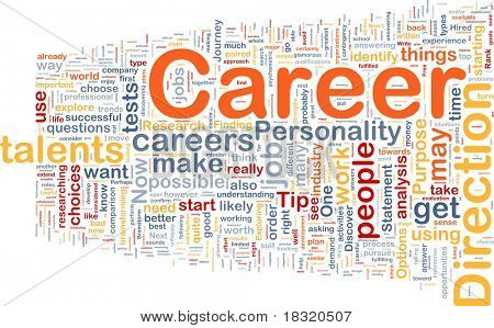 Background concept wordcloud illustration of career