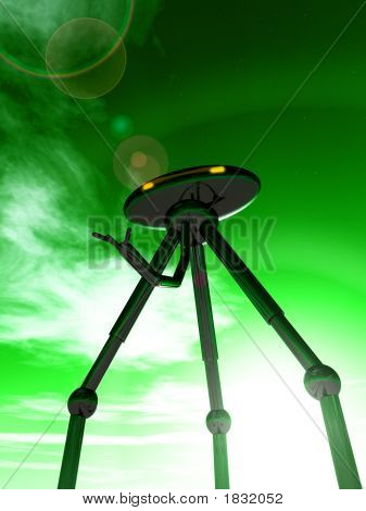 Alien Tripod And Sky