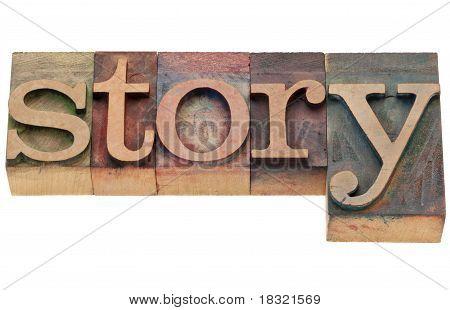 História palavra no tipo de tipografia