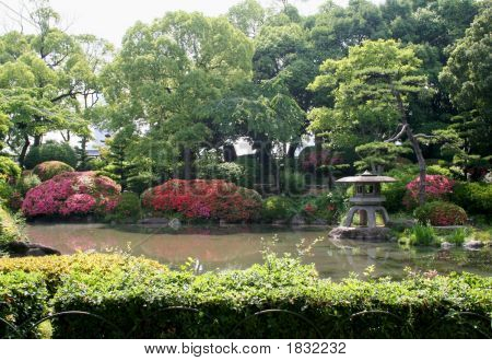 Garden At Osaka Castle