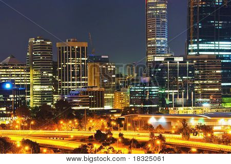 City of Perth Western Australia by night