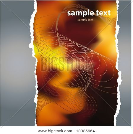 Grunge fragmentary paper with place for text