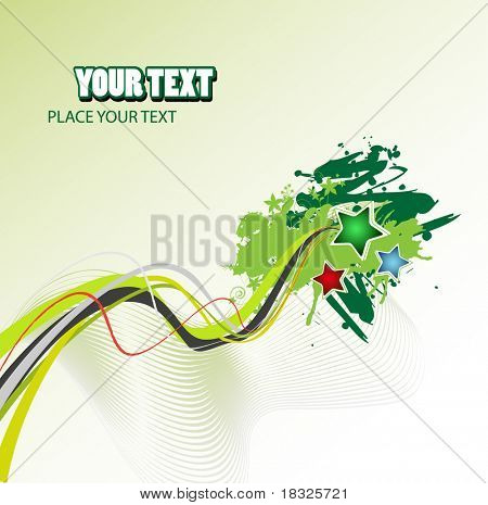 Grunge vector abstract design