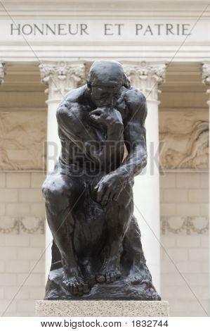 Rodin'S Thinker Honneur Et Patrie
