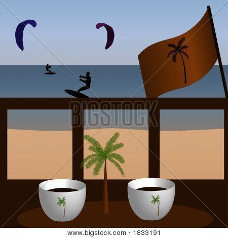 Coffee During Looking At Kitesurfers