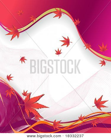 Autumn vector background stock vector : Autumn vector background