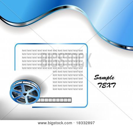 vector background with curved photographic film