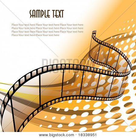 Curved photographic film. Vector