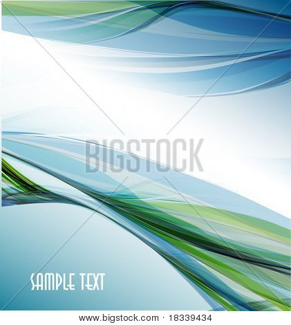 Abstract wellig Vector design