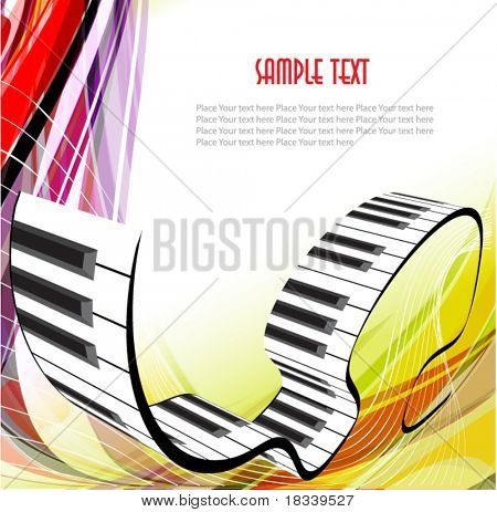 Abstract piano background. 10 eps vector.