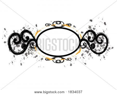 Black Circular Frame With Flourishes