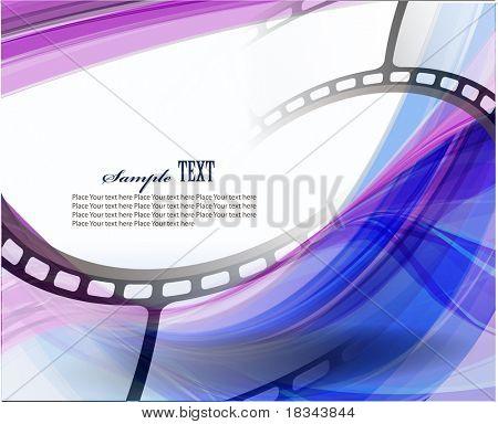 Curva de película fotográfica. Vector