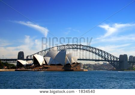 Sydney Opera House en Harbour Bridge...