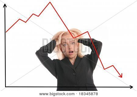 Financial crisis. Falling of quotations at stock exchanges