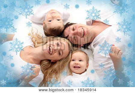Happiness amicable family