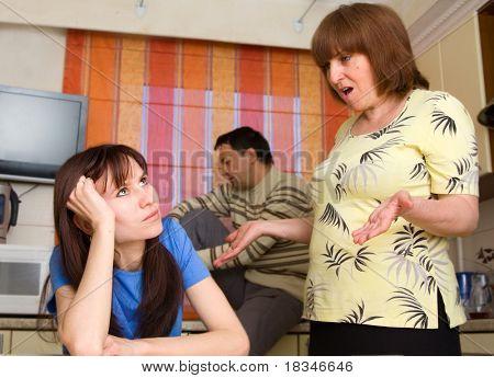 Conflicto en una familia