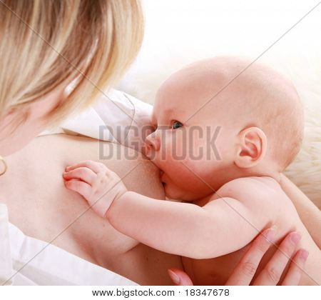 Mother breastfeeding her baby