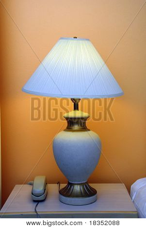 An attractive night lamp concept of romantic mood