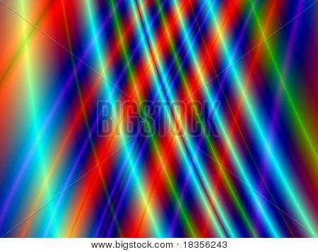 Fractal rendition of colored curves back ground