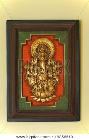 Portrait of Indian Elephant God Ganesha